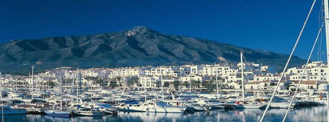 Puerto Banus with La Concha behind