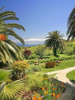 Lush gardens and views