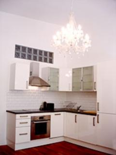 The modern and well equipped kitchen
