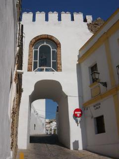 Entrance to Arcos old town, 200 meters below Casa Blues