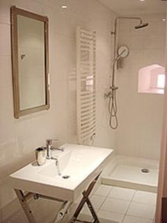 The modern and sleek bathroom/shower