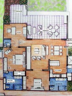 Floor plan. Total space 240 sqm.