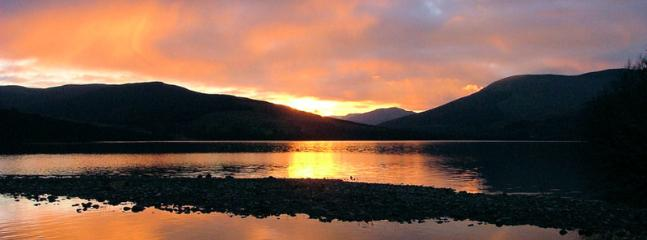 Sun setting over Lochearn