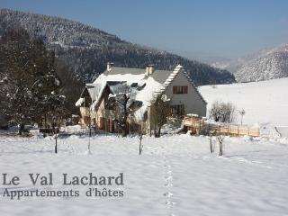 le val Lachard sous la neige