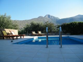 The pool and mountains beyond