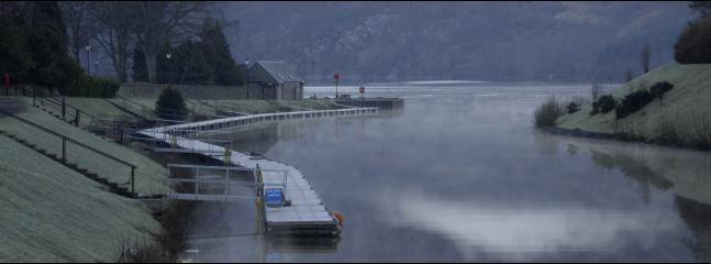 Winter morning where the Caledonian Canal meets Loch Ness
