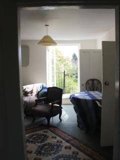 Sitting room and doors to balcony.