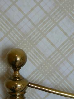 Master bedroom, Vivienne Westwood tartan wallpaper