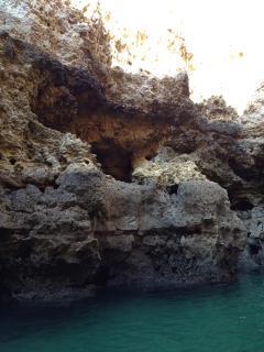 Rocks by boat