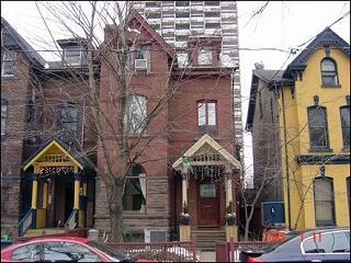 vista da casa da rua