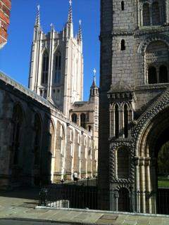 The Norman Tower & the Cathedral with it's tower finished in just 2005 - beautiful architec