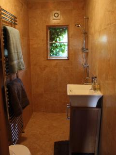 Wet room bathroom.