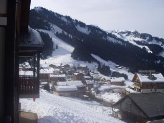 View East from the balcony towards the slopes at Linga and Pre la Joux