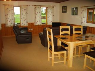 Open plan lounge, kitchen/diner in Hardy Chalet, Dorset