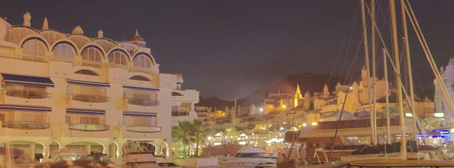 Benalmadena Port at night. Food and entertainment centre.