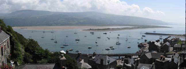 Looking from Barmouth to Cader Idris and Llwyngwril