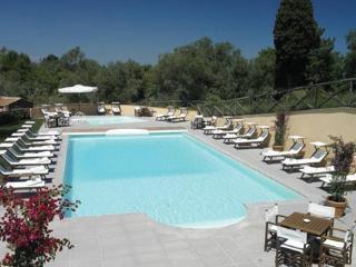 The heated swimming pool