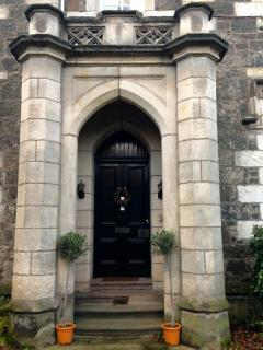 Stunning stone portico to welcome you.
