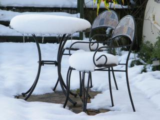 On the patio but perhaps not today!