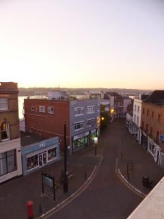 View of Cowes High Street from the house.
