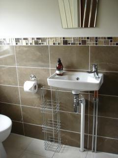 en-suite shower room in twin room