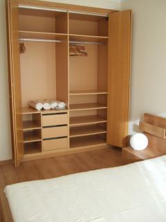 Double bedroom closet