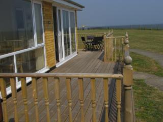 Bungalow  on a quiet site, with decking area