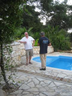 a good chat and a drink round the pool...