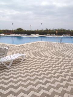 piscina comunitaria amplia y otra para niños, tambien dispone de columpios y zonas ajardinadas