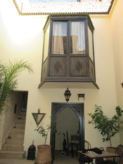 Balcony overlooking the courtyard