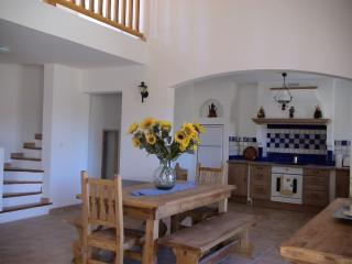 Dining room and Mezzanine looking onto kitchen