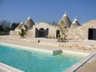 The pool lying in close proximity to Trullo