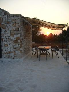 Dining area at dusk