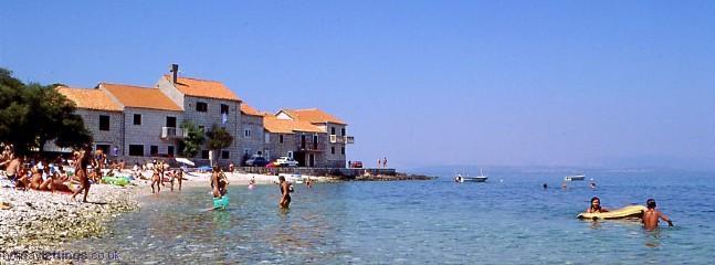 beach close to the villa