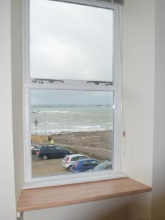 Looking out of the living room window towards Penzance and Mousehole