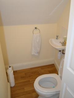 The upstairs toilet