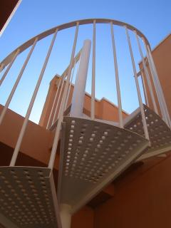 Staircase upto the roof terrace