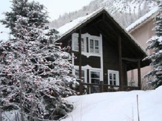 Alpine chalet with log fire, Allos