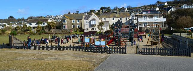 The play park, 100m down the road from the house