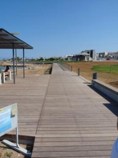 Boardwalk to Protaras along the coast - sit, relax or stroll.....