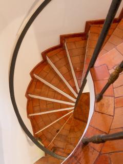 Escadas de acesso aos Quartos