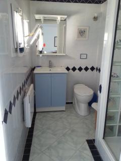 salle d'eau (douche) lavabo, toilettes