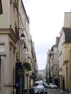 The Rue Charlot, a narrow street in the Marais full of interesting shops.