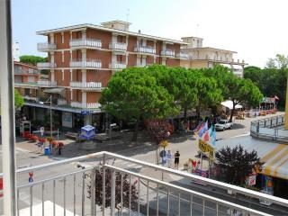 Vista da una della terrazze della via principale che porta al mare