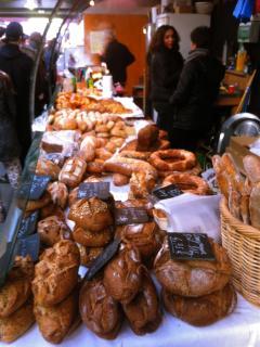 Organic bread stand, Marche des Enfants Rouges.