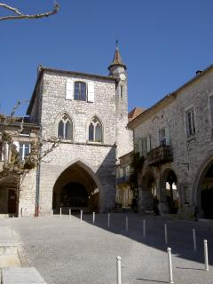 The medieval bastide village of Monflanquin