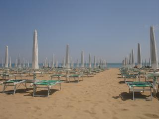 Jesolo Lido beach - loungers for enjoyng the sun