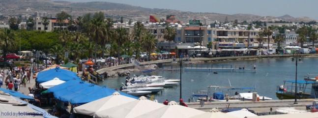 Bustling harbour area