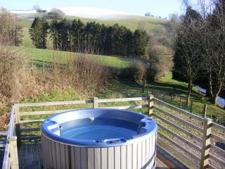 Hot tub with great views of the farm