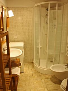 bathroom with Hydro-massage shower